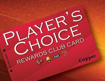 Player's Choice Rewards Club Card   Copper